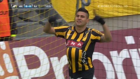 TV: Paulinho trycker in 1-0 direkt för Häcken