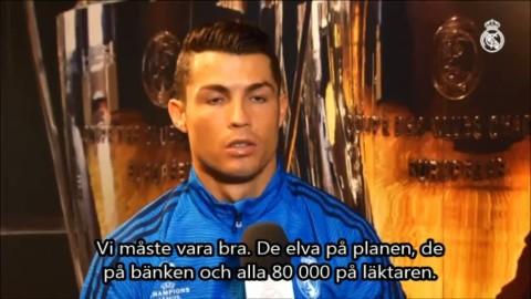 """TV: Ronaldos tal till fansen: """"Blir en magisk kväll"""""""