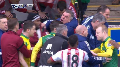 Video: Allardyce rasar efter tacklingen mot Yedlin