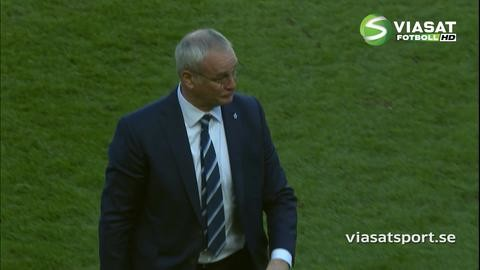 Video: Känslosam Ranieri efter segern mot Sunderland