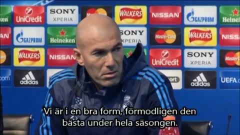 """Zidane: """"Är i säsongens bästa form"""""""