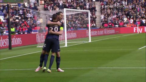 Zlatan med vackert avslut på volley - andra målet för dagen