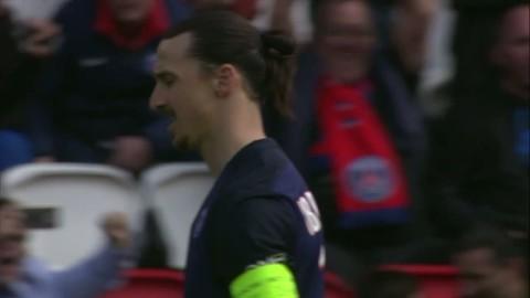 Zlatans dubbla mål mot Caen