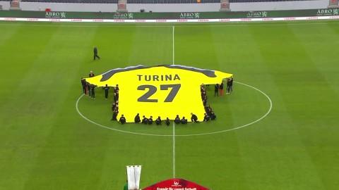AIK:s fina hyllning till Ivan Turina på treårsdagen
