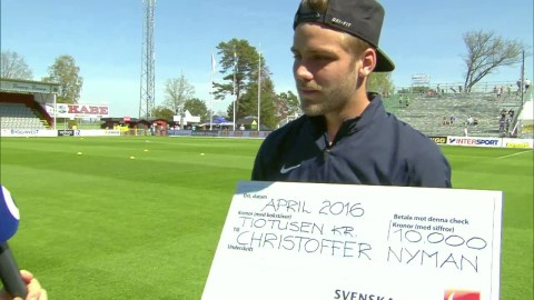 Christoffer Nyman utsedd till Månadens spelare