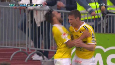 Falkenberg chockar AIK på skyhögt inlägg - gör 1-1