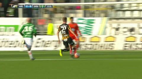 Gustafson med tunnel när han ger Häcken 2-0 mot J-Södra