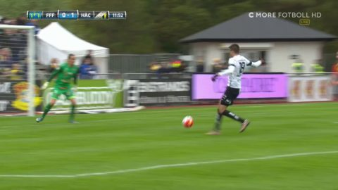 Gustafsson serverar Jeremejeff - 1-0 till Häcken