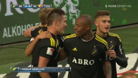 Hauksson nickar in 2-0 till AIK i derbyt