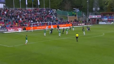 Helstrup Jensen skarvar in 1-0 till Helsingborg