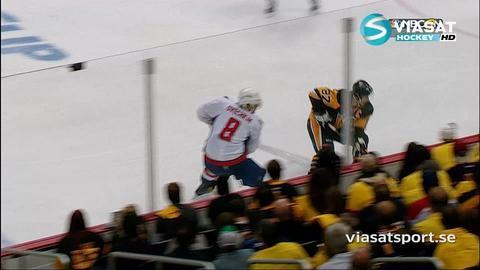 Höjdpunkt: Crosbys utbrott efter Ovechkins slashing
