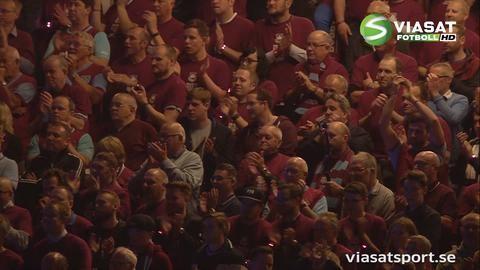 Höjdpunkt: Hyllningen i sista matchen på Boleyn Ground