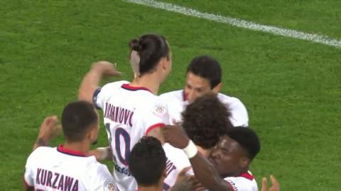 Höjdpunkter: Zlatan målskytt och utbytt med befarad skada i PSG:s kryss