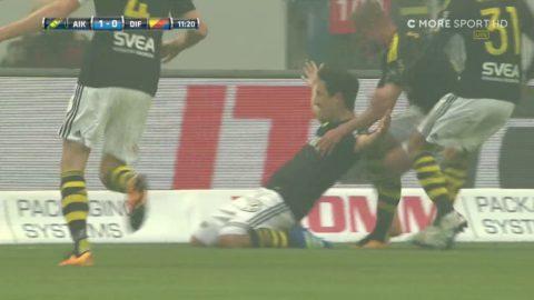 Ishizaki skruvar in 1-0 till AIK på frispark i derbyt