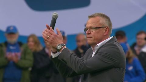 Känslosam Janne Andersson tackar Pekings supportrar