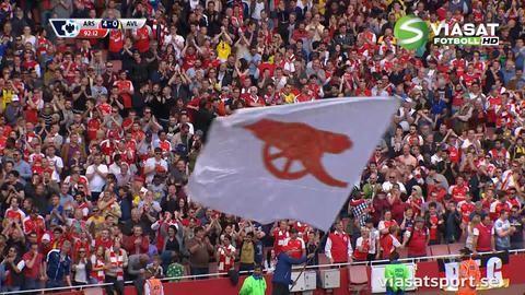 Mål: Arteta bakom Arsenals sista mål för matchen (4-0)