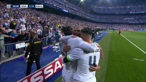 Mål: Bale öppnar målskyttet på Bernabéu (1-0)