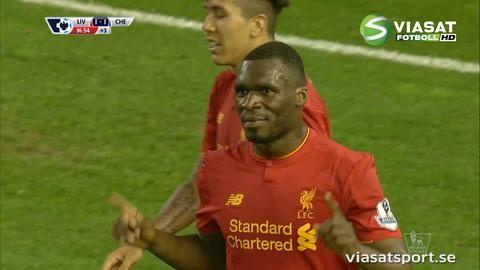 Mål: Benteke frälser Liverpool på tilläggstid (1-1)
