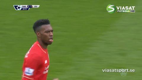 Mål: Benteke nickar in reduceringen för Liverpool (2-1)