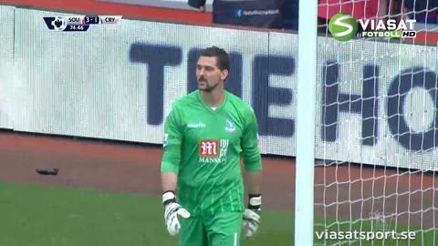 Mål: Bertrand sätter en straff för Southampton (3-1)