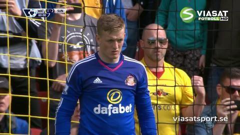 Mål: Deeney kvitterar för Watford på straff (2-2)