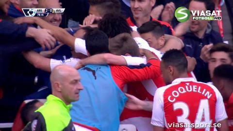 Mål: Giroud gör sitt andra för matchen (2-0)