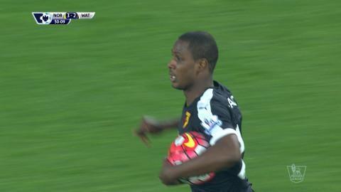Mål: Ighalo reducerar för Watford (3-2)
