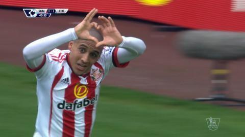 Mål: Khazri dundrar in kvitteringen för Sunderland (1-1)