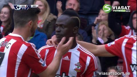 Mål: Mané fullbordar sitt hattrick (4-1)
