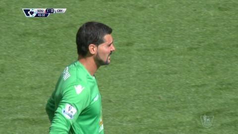 Mål: Mané nätar efter Speronis tavla (1-0)