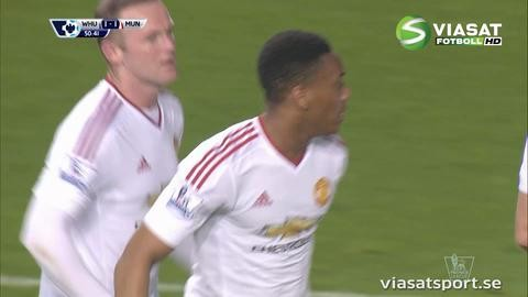 Mål: Martial kvitterar efter läckert anfall (1-1)