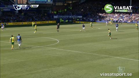 Mål: McCarthy ger Everton ledningen (1-0)