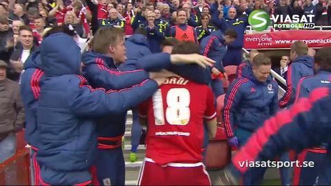 Mål: Middlesbrough mot PL - Stuani trycker in ledningen (1-0)