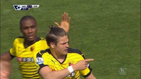 Mål: Proedl ordnar kvittering för Watford mot Sunderland (1-1)