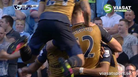 Mål: Sanchez kvitterar för Arsenal (2-2)