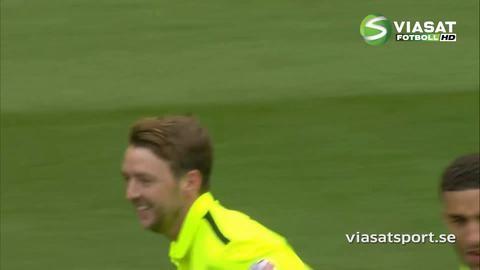Mål: Stephens nickar in kvitteringsmålet för Brighton (1-1)