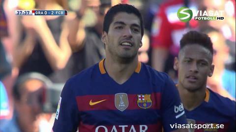 Mål: Suarez gör sitt andra mot Granada (0-2)