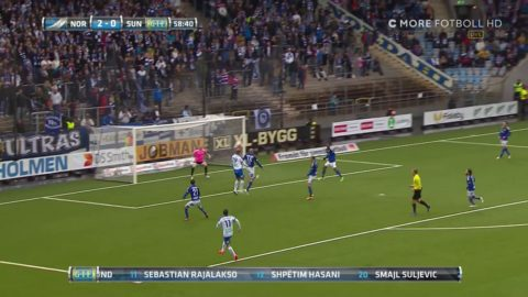 Målskytten Andersson nära 3-0 efter kombinationsspel