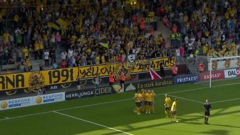 Nilsson ger Elfsborg ledningen - snyggt framspelad av Bajrami