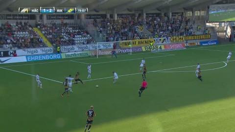 Paulinhos andra mål för kvällen när Häcken hämtar upp 0-2 till 2-2 mot AIK