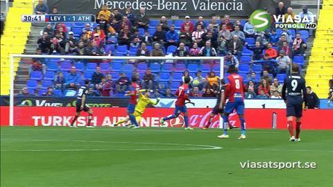 Sammandrag: Levante krossade Atlético Madrids titeldrömmar