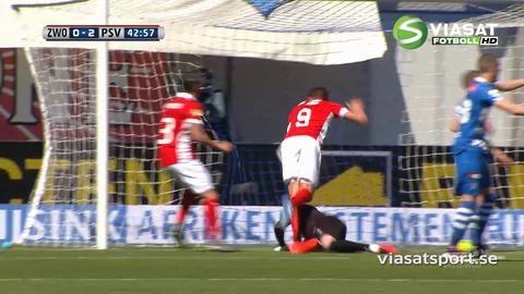 Sammandrag: PSV ligamästare efter seger mot Zwolle