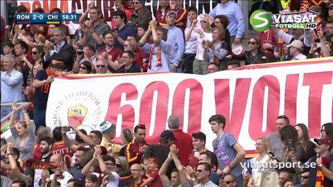 Sammandrag: Totti bjöd på läcker assist i sin 600:e Serie A-match