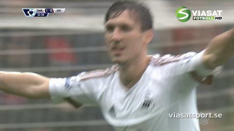 Sammandrag: Tung förlust för Liverpool borta mot Swansea