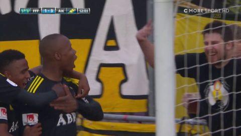 Strandbergs sjunde mål i AIK - gör 3-1