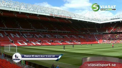 TV: Matchen på Old Trafford uppskjuten