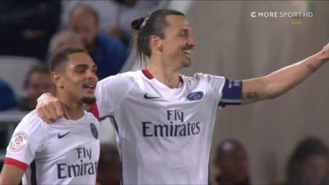 Zlatan nickar in 1-0 till PSG