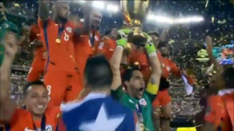 Chile mästare efter drama - Messi brände straff