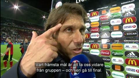 """Conte om laginsatsen: """"Spelarna led när det var läge att lida"""""""