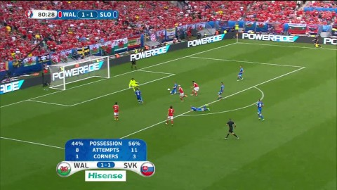 Dramatik - inhopparen sätter 2-1 för Wales sent